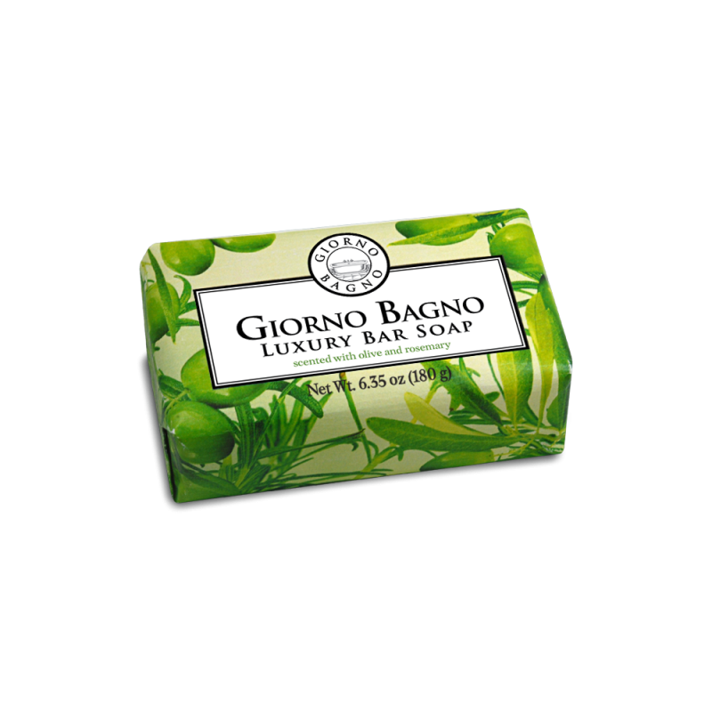 Scented with Olive and Rosemary <br>Net Wt. 6.35 oz ( 180 g )
