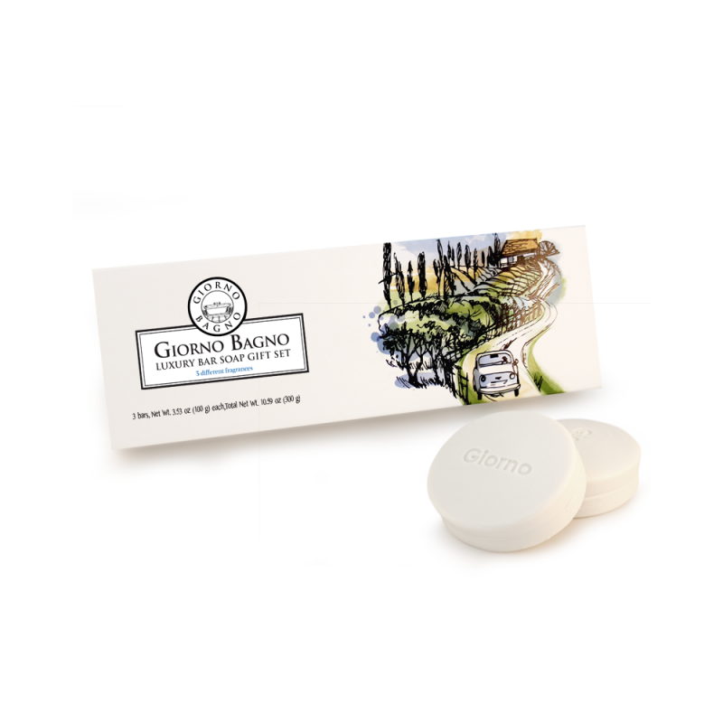 Luxury Bar Soap Gift Set - Tuscany <br>(3 different fragrances)