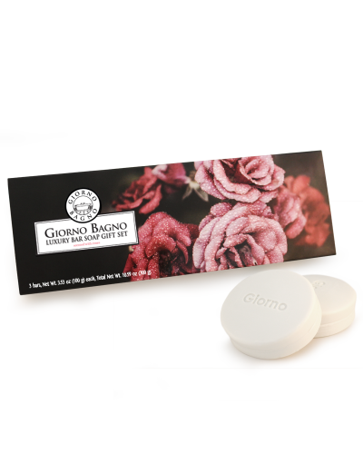 Details of the product Luxury Bar Soap Gift Set -  Roses <br>(scented with Roses)
